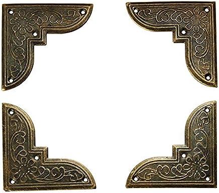 Chenxi Shop 12/pcs Laiton antique M/étal Label Pull Cadre Handle fichier Nom carte support pour meuble Armoire tiroir Coque