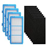 IOYIJOI Filter Replacement for Holmes Aer1 Series, Replacement Parts # HAPF300AH-U4R, HAP242-NUC (4 Filter Replacement + 8 Booster Pre Filter)