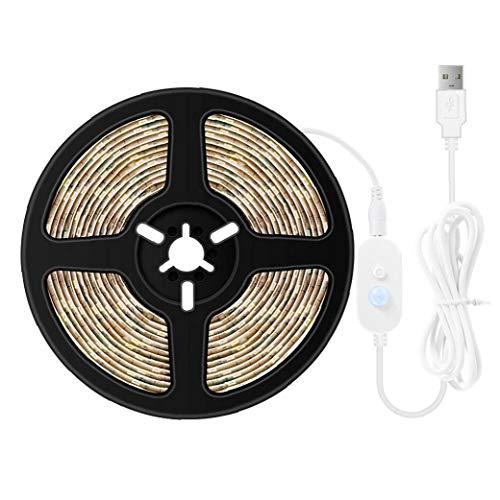 Yoyakie Led Franja De Luz USB Tiras De Led Flexible De La Tira De Cama Motion Sensor Luz De La Noche Bajo Luces De La Cocina Armario Debajo Kit De Iluminación del Gabinete