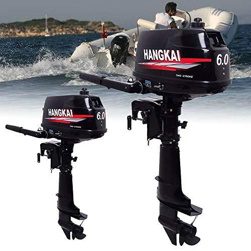 SHIOUCY 2 Takt 6 PS Außenborder Bootsmotor Aussenbordmotor Benzinmotor Wassergekühlt CDI Außenbordmotor 102CC