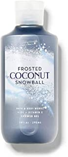 Bath and Body Works Frosted Coconut Snowball Shower Gel 10 Ounce Full Size