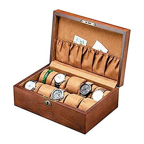 SSHA Joyero Caja de Reloj de Madera Pulsera Pulsera joyería Almacenamiento Pantalla Caja de Reloj mecánico Organizador de Joyas