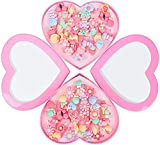 EPARTY :- 36pcs Kids Rings for Girls, Kids Jewelry for Little girls Toddlers, Girl Pretend Play and Dress up Rings, Little Girls Gift with Heart Shape Box, Toys Unique for 3 4 5 6 7 8 9 Year Old Girls