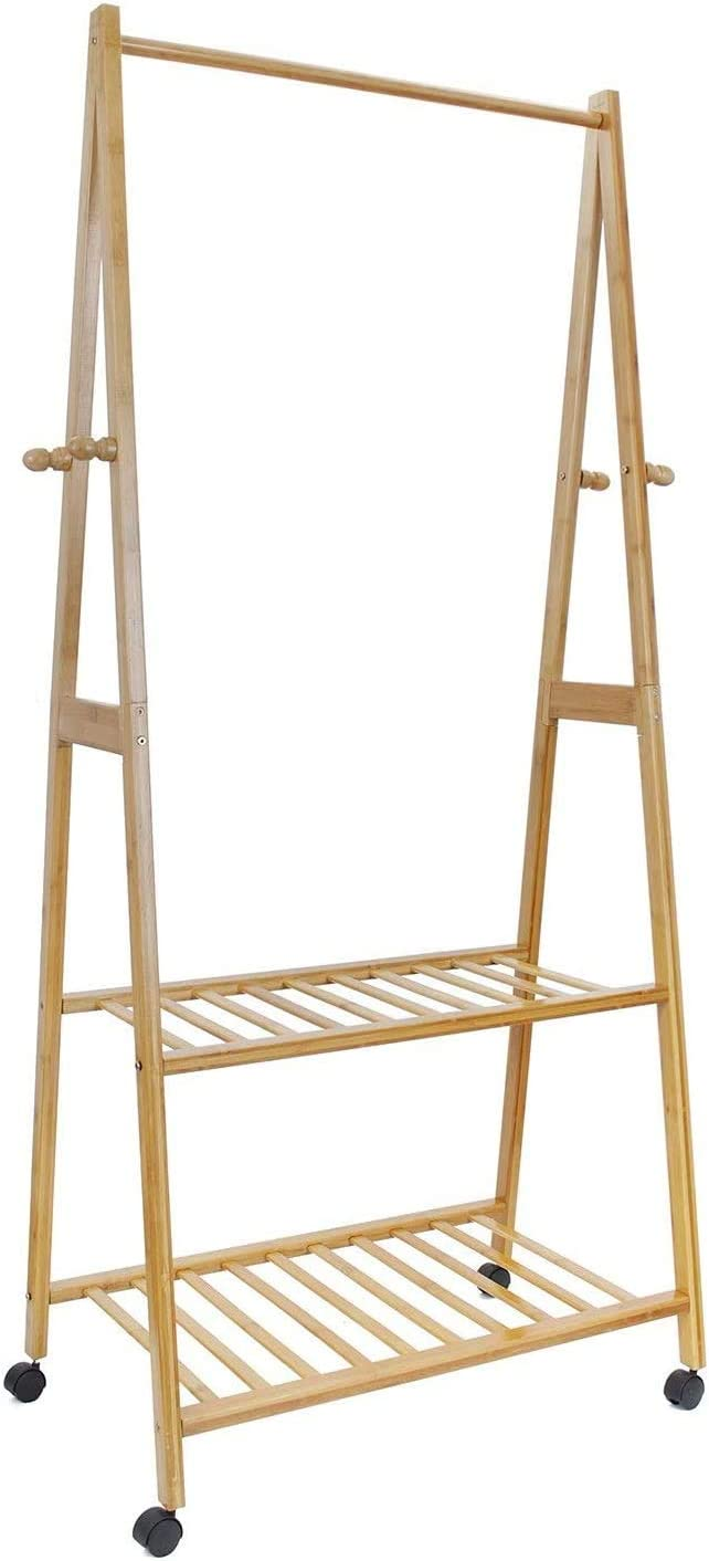 TZSYHJ in 1 Wooden Coat High order Stand Hanging Rail Shoe Japan Maker New Clothes Storage