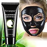 Black Mask, Charcoal Peel off Mask, Activated Charcoal Blackhead Mask, Blackhead Remover Mask, Purifying Deep Cleaning Blackhead Mask for Face Nose 2.11Oz