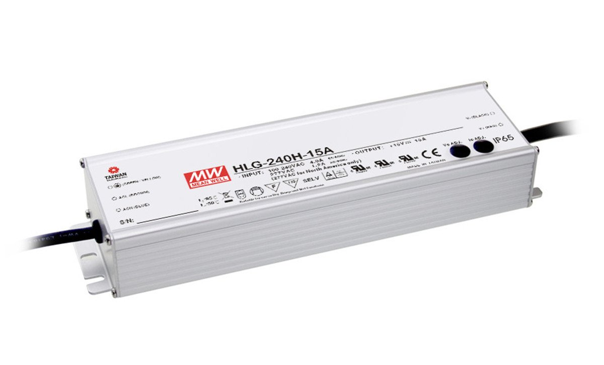 MEAN WELL HLG-240H-36A 240 W Single Output 6.7 A 36 Vdc Output Max IP65 Switching Power Supply - 1 item(s)