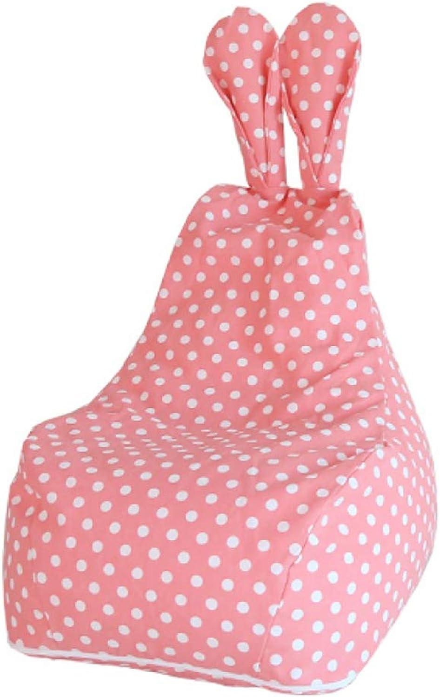 BYLRSF Kinder Sofa, Bunny Cute Cartoon Faule Couch Sitzsack Princess Single Sofa Baumwolle, Abnehmbar Und Waschbar (Farbe   B, gre   Large)
