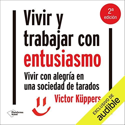 Diseño de la portada del título Vivir y trabajar con entusiasmo