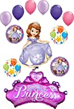 Sofia The First Party Supplies Princess Crown with Gems Birthday Balloon Bouquet Decorations