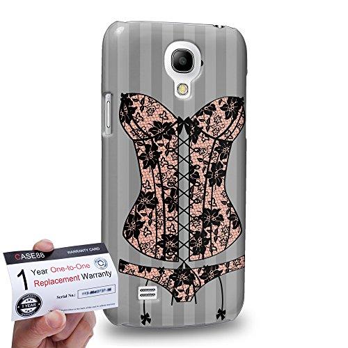 Case88 [Samsung Galaxy S4 Mini] 3D Hülle / Schutzhülle & Garantiekarte - Art Fashion Beige Lace Corset