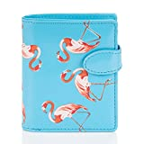 Shagwear - Monederos para Mujeres jóvenes diseños: (flamencos Azul Celeste/Flamingos Skyblue)