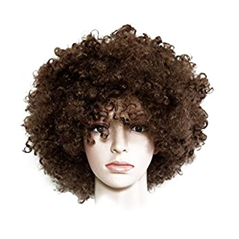 Nextnol Brown Afro Wig,Explosion wig,Hippie Costume Wig,Halloween Costume Party Wig,Both men and women are suitable for wearing