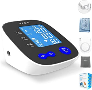 AVICHE Automatic Digital Arm Blood Pressure Monitor Large Backlight LCD Display Talking Pulse Rate 22-42cm BP Cuff Machine