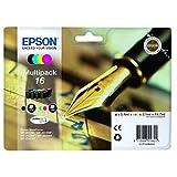 Epson original - Epson Workforce WF-2540 WF (16 / C13T16264022) - Tintenpatrone Multipack (schwarz, Cyan, Magenta, gelb)