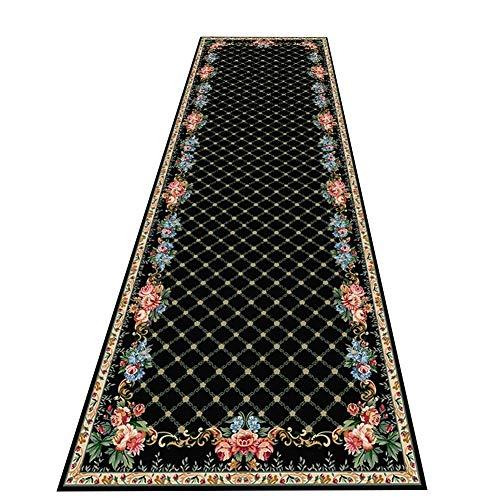 LIXIONG-Läufer teppiche, Slaapkamer bed tapijt geometrisch patroon gang passage tapijt met anti-slip zekering wasbaar voor de woonkamer, 66 maten (kleur : A, grootte: 0,6x3m)