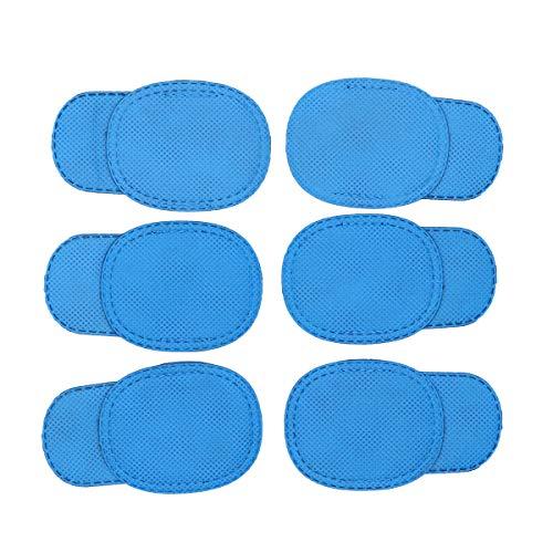 SUPVOX Ambliopía corregida parche en el ojo gafas niños parches de ojo perezoso recuperación parche en el ojo máscara niños 12 piezas (azul)