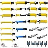BOUN Piezas Technic Pare Lego, 32 Piezas Kit Neumático con Bomba de Aire Varilla de Empuje Cambiar Pistón Tubo de Aire, Piezas de Repuesto Técnicas - Color Aleatorio