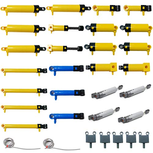 KEAYO Technik Ersatzteile Set, Technik Pneumatik Teile Set, Technik Steine Einzelteile Klemmbausteine Set Kompatibel mit Lego Technic