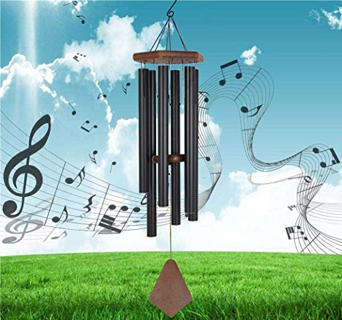 Jolitac Memorial Wind Chime Outdoor Large Deep Tone Amazing Grace Wind-Chime with 6 Aluminum Tubes Elegant Melodic Sympathy Chimes Windbell Home&Garden Decor Patio Balcony Gift (40)