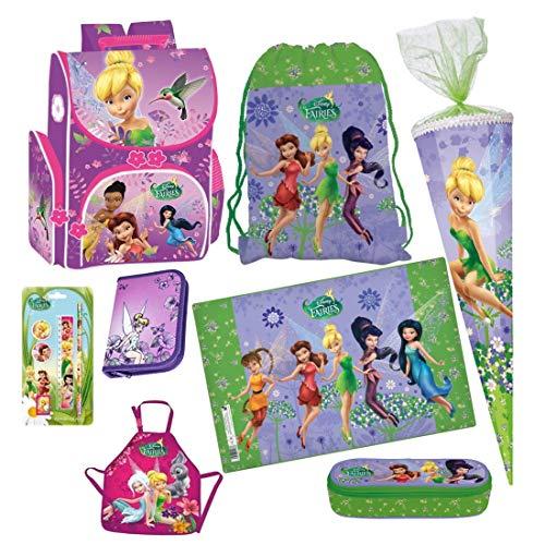 Disney Fairies Tinkerbell FEE ELFE 12 x Teile Set Schulranzen RANZEN Rucksack FEDERMAPPE FEDERTASCHE SCHULTÜTE