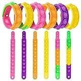 [6 Pack] Push It Pop Fidget Toys Bracelet,...