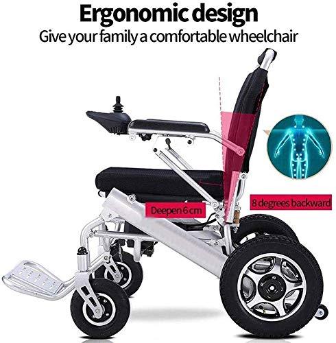KFMJF Falten Elektro-Rollstuhl für elektrische Rollstühle, leichte elektrische Rollstühle klappbar, leistungsstarke Dual-Motoren