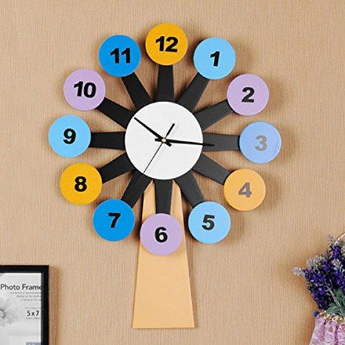 horloge murale CivilWeaEU- Mute Creative Kids Room Living Room Décoratif Moderne Pendentif Mur Art Clock