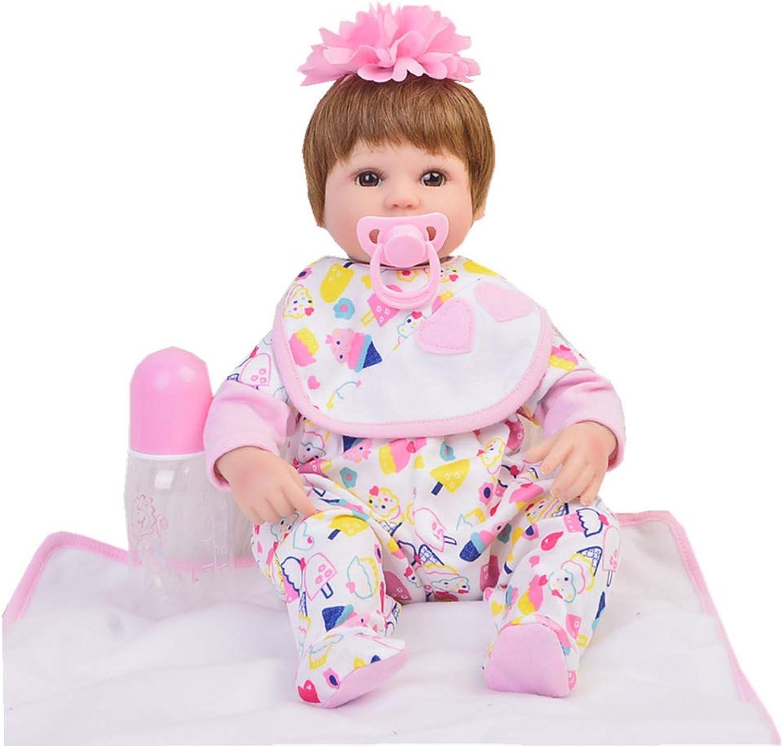 DMZH 43cm Reborn Babypuppen Stoff Karosserie Weichkörperpuppe Simulation Realistische Lebensechte Kinder Spielzeug Geburtstag Weihnachten Geschenke B07Q7TLJ5C Bunt,  | Preisreduktion