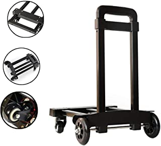L016 Folding Hand Trucks-Luggage Shopping Cart Truck Trolley-Adjustable Extendable Flat-Personal Hand Truck-Telescopic Handle-6 Wheels Hand Trolley