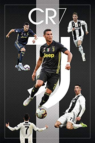 CR7 Cristiano Ronaldo Juventus FC Sports Soccer Poster 24in x 36in product image