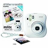 FUJIFILM インスタントカメラ チェキ instax mini 25 ホワイト INS MINI 25 WT N