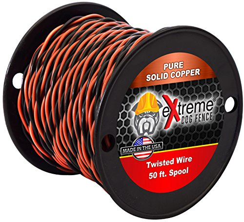 Extreme Dog Fence 16 Gauge Transmitter Wire - 50 Foot Spool of Pre-Twisted Cable - Compatible With All Wired Electric Dog Fence Systems