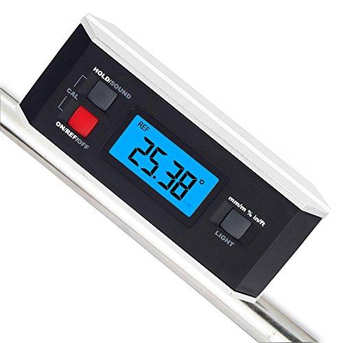 Neigungsmesser, RISEPRO® Digitaler Winkelmesser Winkel Finder Level Neigungsmesser Magnetische V-Nut 0 ~ 360 Grad mit Hintergrundbeleuchtung 82413B