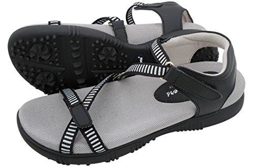 Sandbaggers Galia Women's Golf Sandals (8, Black)