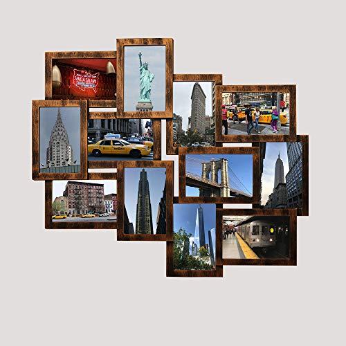 Shinsuke Helsinki Kupfer Collage Bilderrahmen Kunststoff-Rahmen Fotorahmen 12 Fotos 10x15