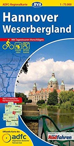 ADFC-Regionalkarte Hannover Weserbergland mit Tagestouren-Vorschlägen, 1:75.000, reiß- und wetterfest, GPS-Tracks Download (ADFC-Regionalkarte 1:75000)
