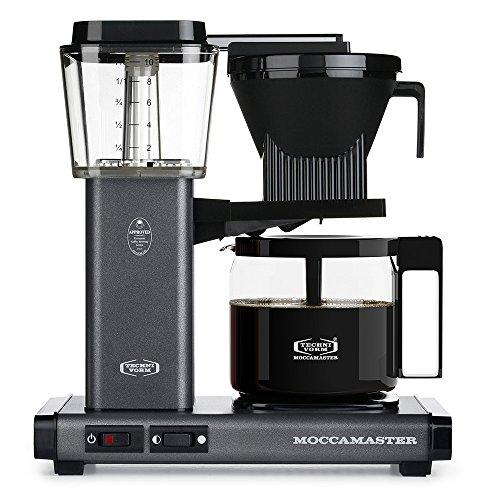Technivorm Moccamaster 59694 KBG, 10-Cup Coffee Maker, 40 oz, Stone Grey