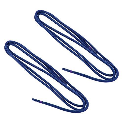 REMA 1 Paar Schnürsenkel - gewachst - rund - dünn - Ø ca. 2,0-2,5 mm Längen (75 cm, Königsblau)