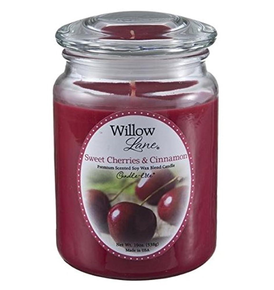 どこでも素敵な旅客Candle Lite 1646991?Scented Candle、Sweet Cherries &シナモン、19-oz。 2 1646991