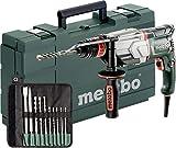 Metabo 600697510Multi Marteau UHE 2660–2Quick Set | + doublure SDS-Plus, mandrin rapide, poignée, butée de profondeur, coffre, jeu de forets/burins SDS-Plus (10pièces) | (2.8J/800W/3.1kg)