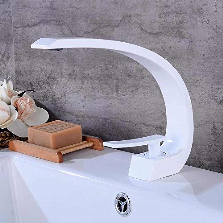 Wasserhahn Waschtischarmatur Wasserhahn-Badezimmer-Toilettenaufzug-Wasserhahn Kupferner Wasserhahn Wei