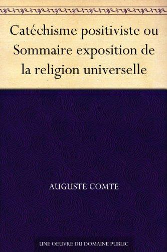 Couverture du livre Catéchisme positiviste ou Sommaire exposition de la religion universelle