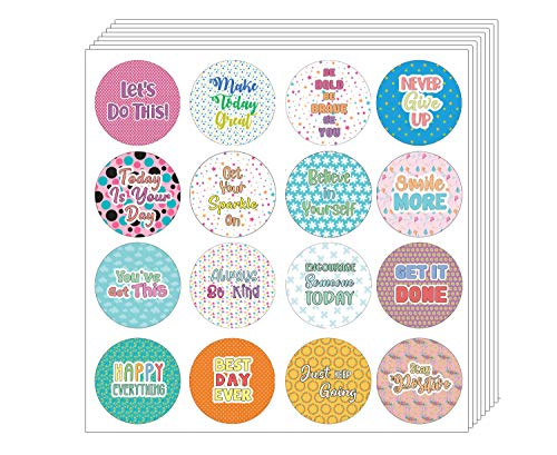 Creanoso Affirmation Stickers - Confetti Words to Inspire (5-Sheet) - Stocking Stuffers Premium Quality Gift Ideas for Children, Teens, & Adults - Corporate Giveaways & Party Favors