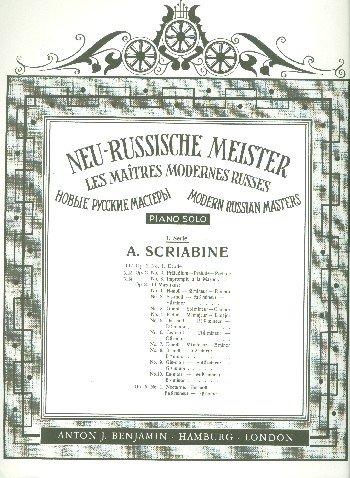 Etüde: op. 2/1. Klavier. (Neu-Russische Meister)