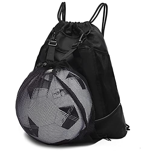 STAY GENT Fußballtasche für Jugendliche, Fußball Rucksack Turnbeutel Drawstring Rucksack Fussball & Taschen für Basketball Volleyball Baseball mit Ball-Mesh-Tasche, Sportbeutel Kinder Jungen Mädchen