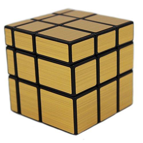 MEISHINE Dorado Mirror Cube Cubo Mágico de Oro Cubo Mágico Inteligencia Mágico Cubo de la Velocidad Juego de Puzzle Cube Speed Magic Cube Stickerless