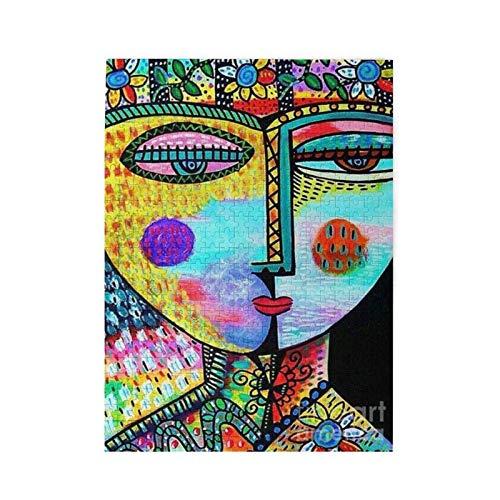 EXking Jigsaw Puzzle Je-an Mi-Chel Basquiat Rompecabezas de Madera Juegos para Adultos Rompecabezas Familiar Rompecabezas para niños, Rompecabezas Desafiante Juego de Rompecabezas