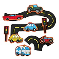 Unique Edu-foam traffic themed bath toy. Illustrated foam shapes stick like magic to any smooth, flat surface when wet. Long lasting Edu-Foam is extraordinarily resistant to mould and mildew. Complete with a mesh drain bag for easy storage. Suitable ...