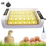 iBellete Incubadora automática de Huevos Incubadora de Huevos para incubar 24PCS Duck Bird Egg Incubadora de Aves de Corral pequeña Caja de cría de Pollo Digital para Pollos Patos, Aves de gallina