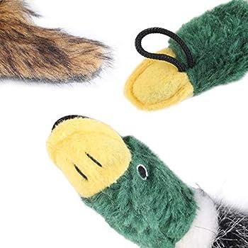 Jouet - Mignon Dessin animé Animal Chien Chiot en Peluche grincement Jouet en Peluche klaxon Canard Chiot Animal de Compagnie mâcher couinement grinçant drôle Jouet - Vert